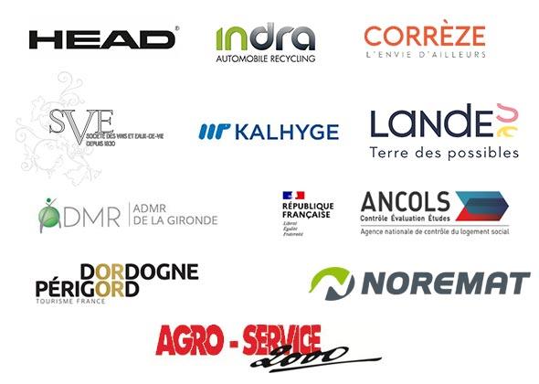 Logos de nos nouveaux clients