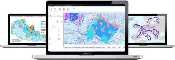 Ordinateurs Cartes & Données statistique décisionnelle géomarketing