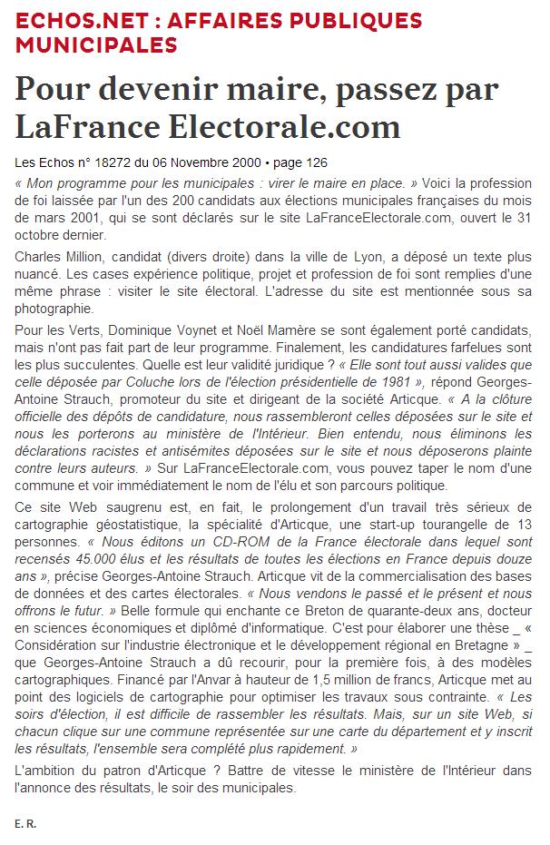 Les Echos_La France Electorale_06-11-2000_web