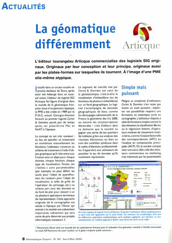 Geomatique Expert_La geomatique différemment_01-05-2006_page1