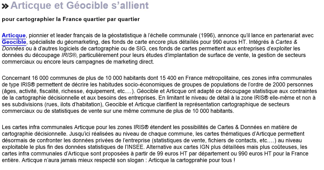 Artesi_partenariat Geocible_03-01-2007