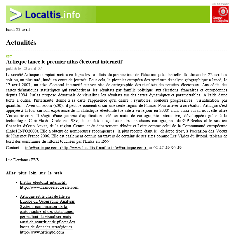 Localtis.info_La France Electorale_23-04-2007