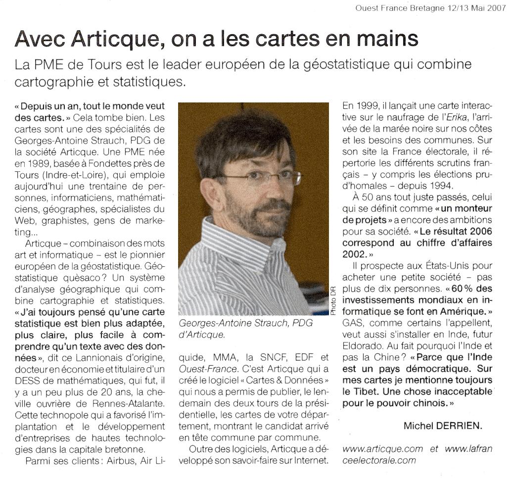 Ouest France Bretagne_Articque_12-05-2007