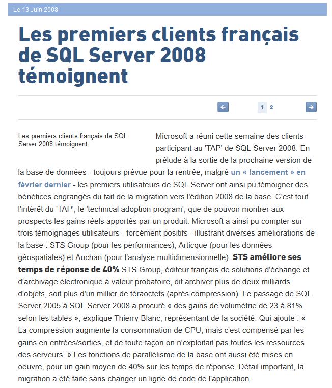 Le Monde Informatique_SQL server 2008_13-06-2008_page1
