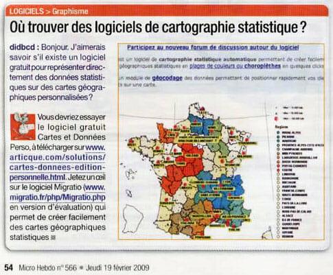 Micro Hebdo_Cartes et données_19-02-2009