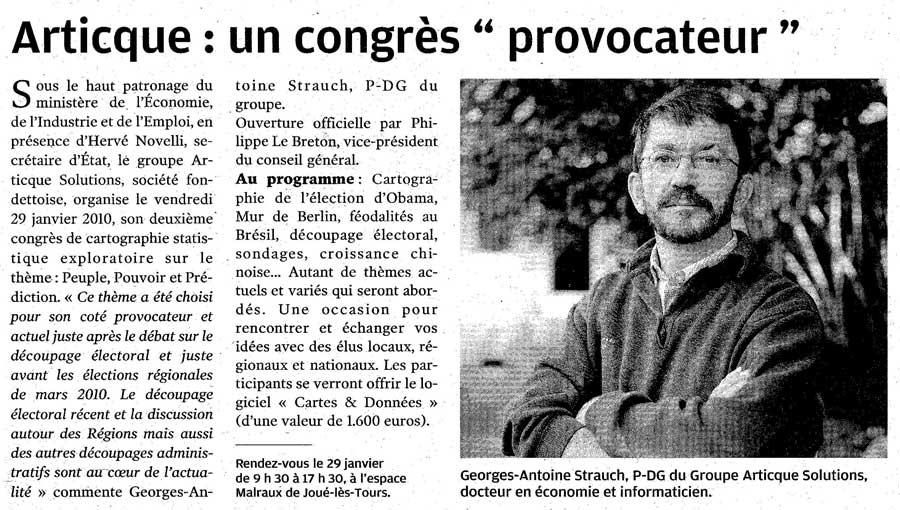 La Nouvelle République_Congrès Articque_09-01-2010