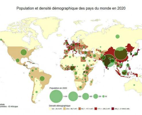 population demographique des pays du monde en 2020