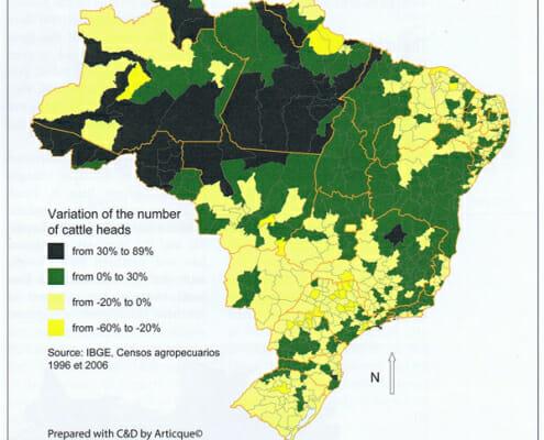 map geographische rundschau cattle brasil