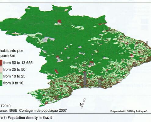 map geographische rundschau population density brasil