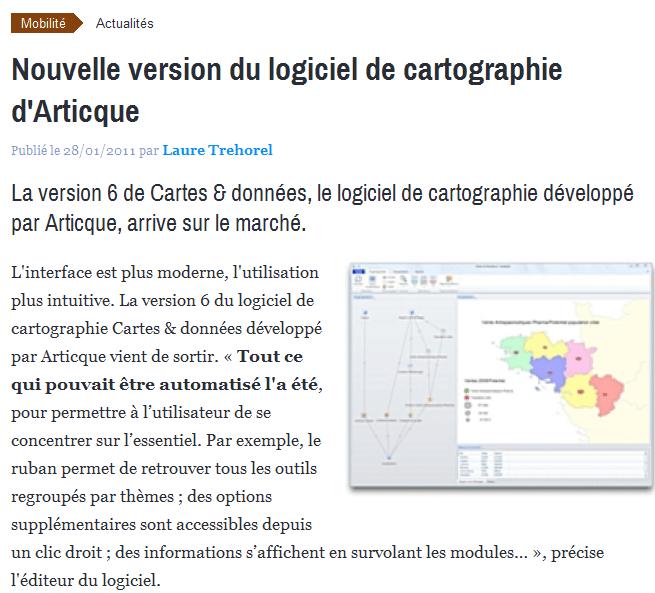Nouvelle version du logiciel de cartographie d'Articque 2014-02-19 11-55-35