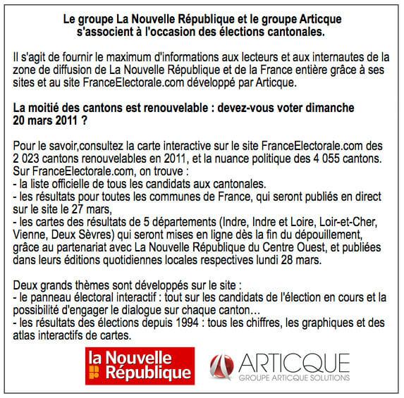 La NR_Partnenariat NR Elections cantonales_17-03-2011