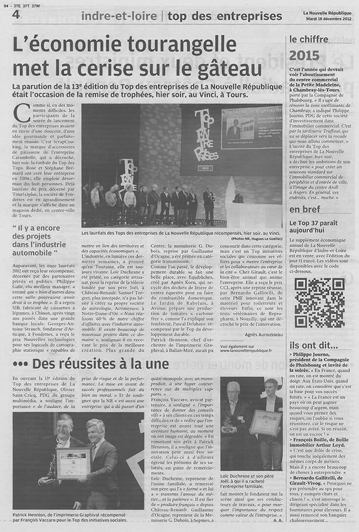 La NR_économie tourangelle_18-12-2012_page1