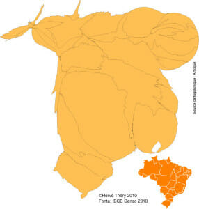 20101208-carte-herve-thery-anamorf-population-etats-bresil-2010