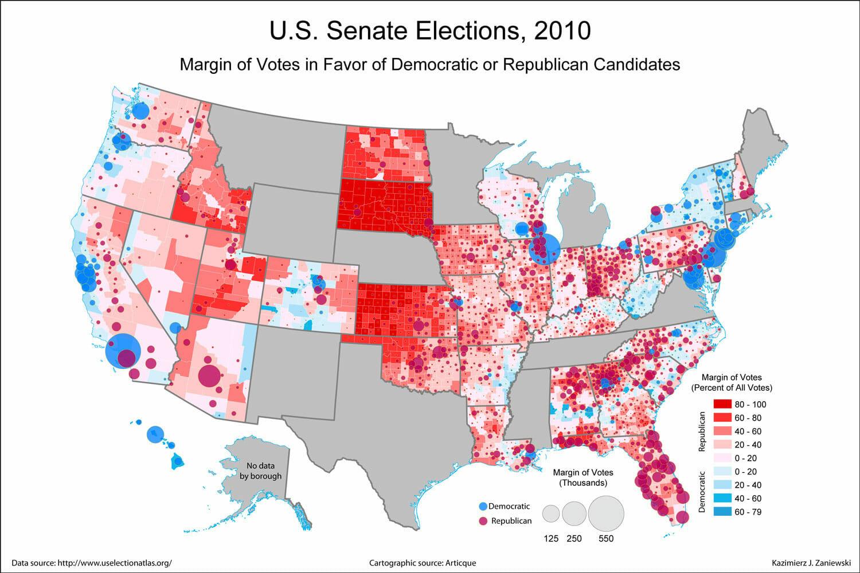USA Senate 2010 county results