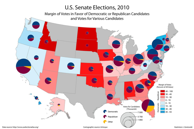 USA Senate 2010 state results