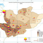 carte tchad population masculine vs feminine et densite