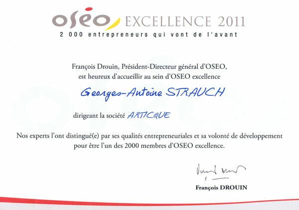 Diplôme OSEO Excellence 2011