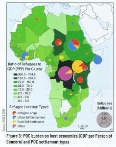 map-geographische-rundschau-africa-refugee