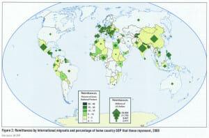 map-geographische-rundschau-remittance-migrant