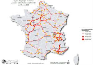 carte de la hausse des tarifs du peage sur les autoroutes en france