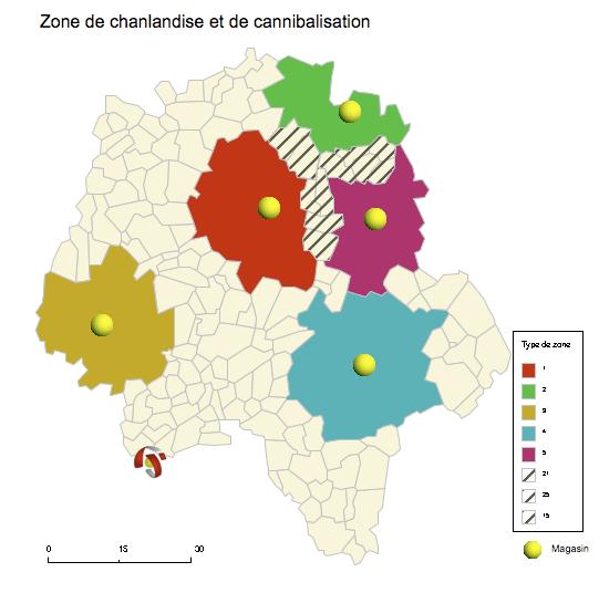 cartographie d'une zone de chalandise