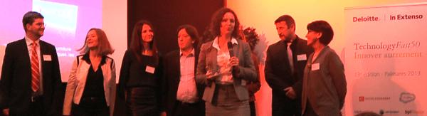 L'équipe du Groupe Articque lors de la remise des prix Deloitte Technology Fast 50 région Ouest 2013