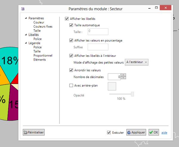 Les paramètres du module Secteurs