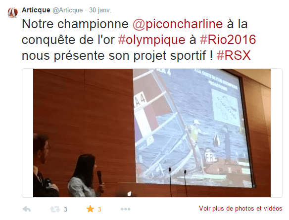 Congrès-Articque-Charline-PICON-Voile-RIO-2016-JO-Olympique-Tweet
