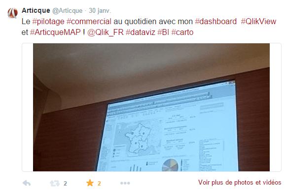 Congrès-Articque-QlikView-ArticqueMAP-Blay-Foldex-Pilotage-Commercial-geo-BI-Tweet