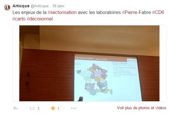 Congrès-Articque-Cartes&Données-Pierre-Fabre-Sectorisation-Tweet