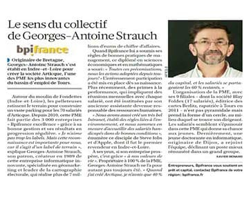 Article consacré à Georges-Antoine Strauch
