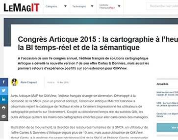 Congrès Articque 2015 : la cartographie à l'heure de la Business Intelligence