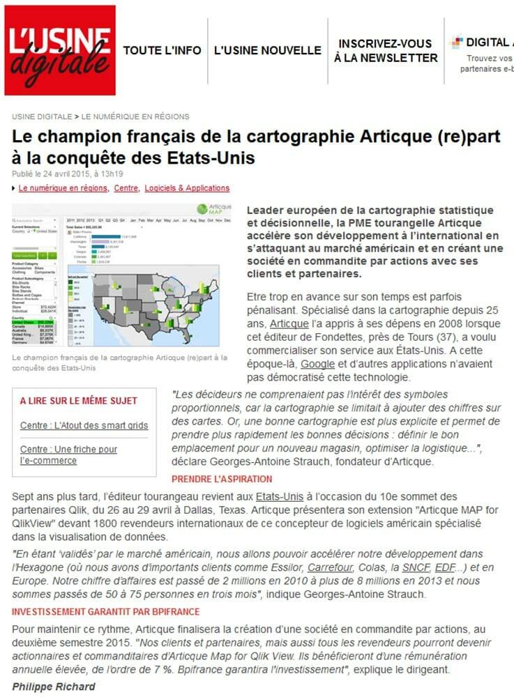 Le champion français de la cartographie Articque (re)part à la conquête des États-Unis