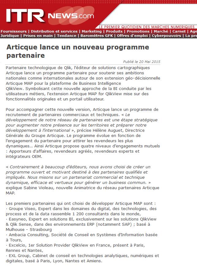 ITR news_programme partenaires AMAP_20-05-2015