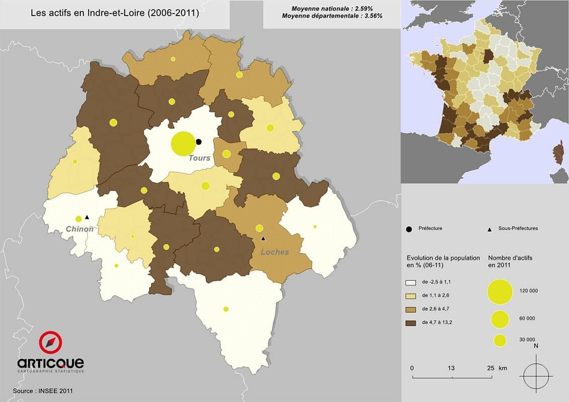Les actifs en Indre-et-Loire