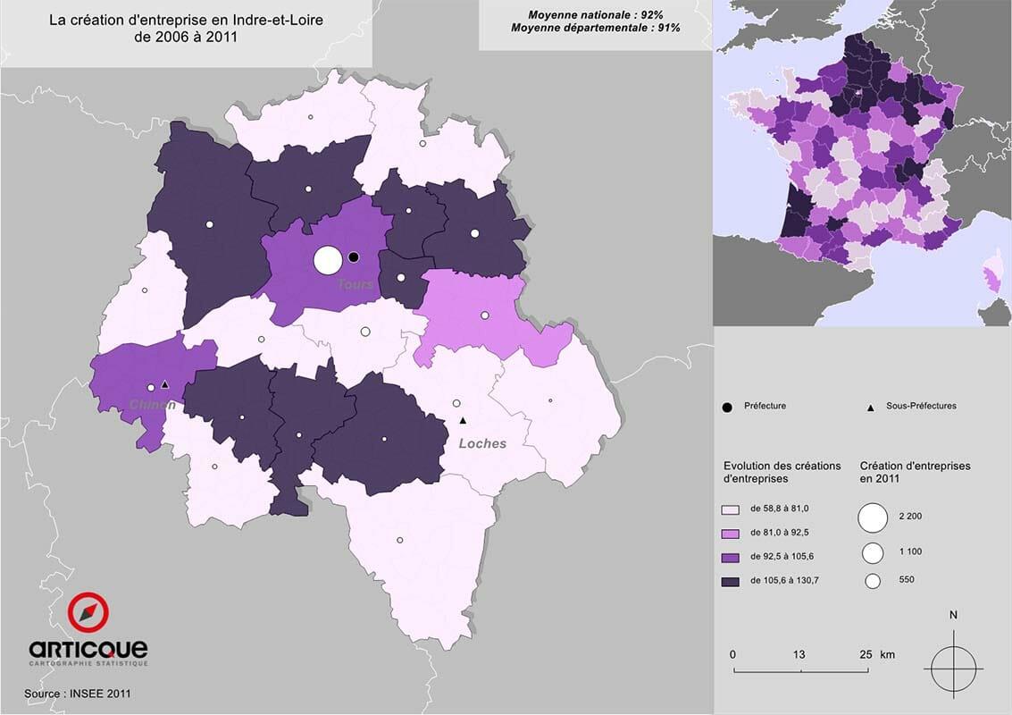 Création d'entreprises en Indre-et-Loire