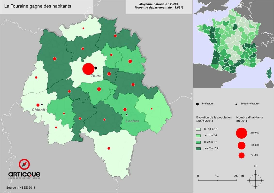 Population en Touraine