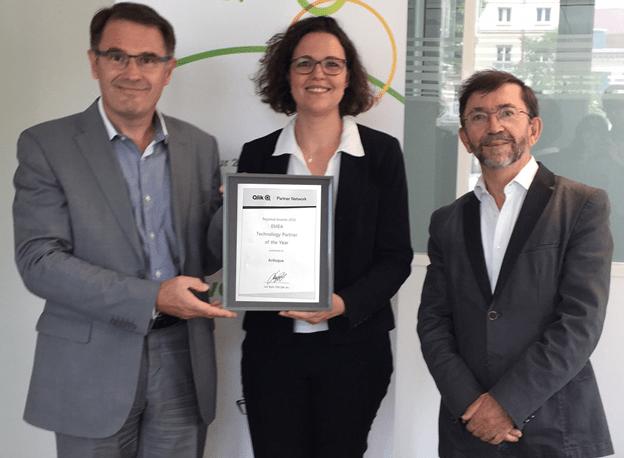 Remise du prix à Georges-Antoine Strauch et Hélène Auguet (Articque)