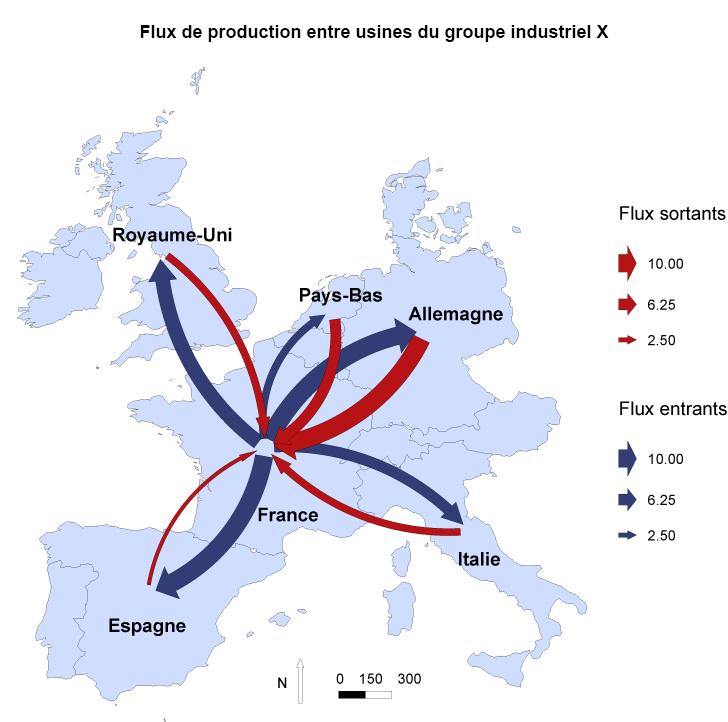 Exemple de cartographie statistique adaptée au secteur de l'industrie