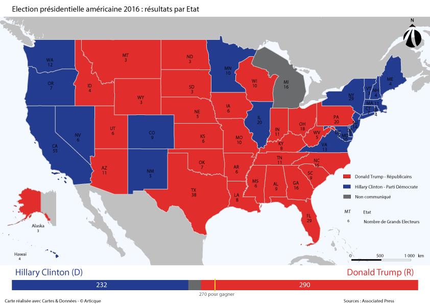 Résultats élections USA 2016