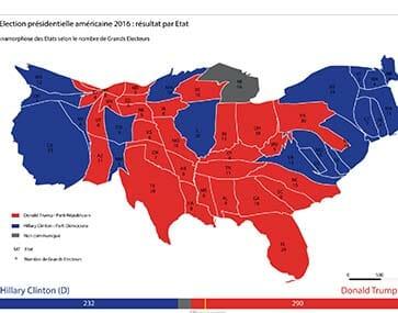 Les élections présidentielles 2016 aux États-Unis en cartes