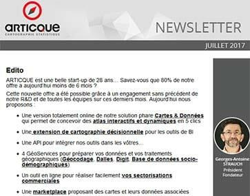 Newsletter n°46 - juillet 2017