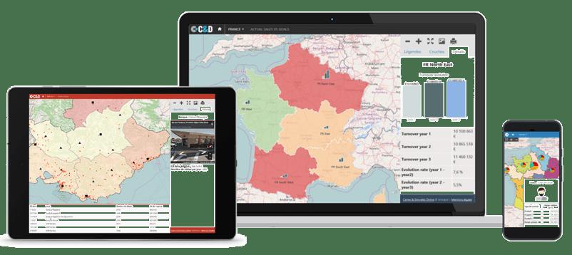 L'atlas web d'Articque est disponible sur différents supports