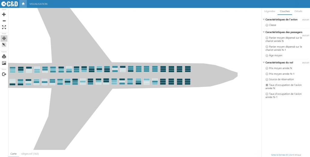 Taux d'occupation d'un avion