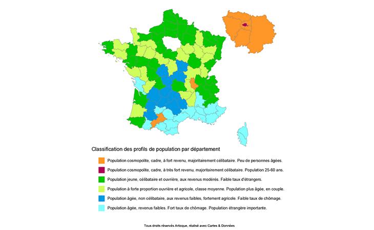 Classification des profils de population par département en France