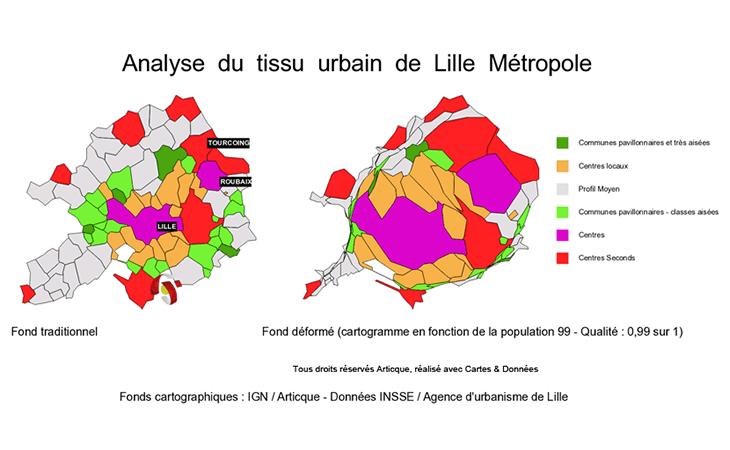 Cartographie du tissu urbain de la métropole de Lille