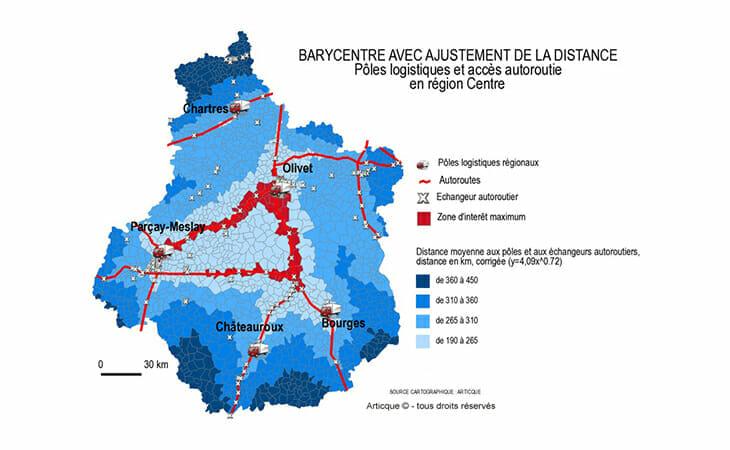 Exemple de geomarketing appliqué aux pôles logistiques et autoroutes