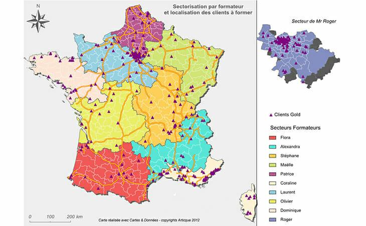 Geomarketing dans le secteur de la santé et de la formation