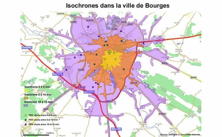Le geomarketing appliqué à la ville de Bourges