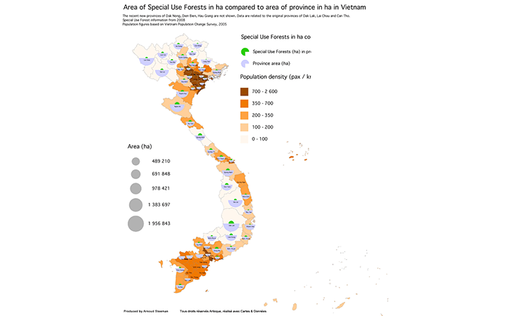 Proportion des exploitations forestières par région au Vietnam